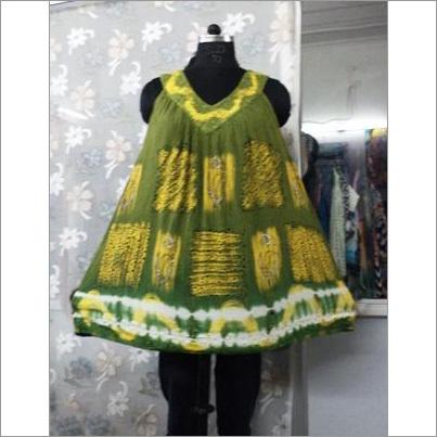 Tie Dye Umbrella Short Dress