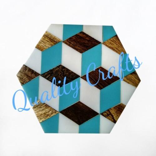 Resin & Wooden Tableware Coaster
