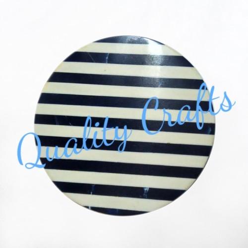 Resin Black & White Strips Coaster