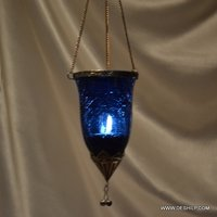 Creak Glass Colorful T Light Hanging