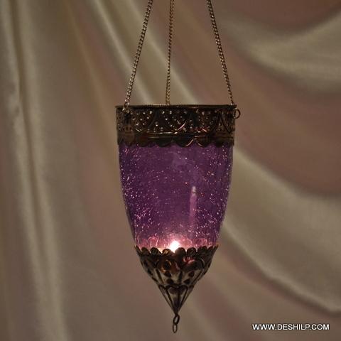 Home Decor Glass T Light Hanging