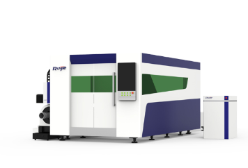 RJ3015PT Heavy Standard Open Type Fiber Laser Cutting Machine with Full Enclosure
