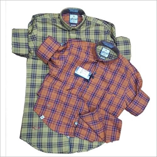 Mens Full Sleeve Cotton Check Shirt
