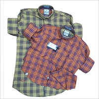 Mens Full Sleeve Cotton Check Shirt