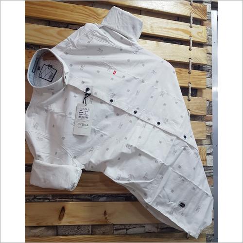 Mens Cotton Party Wear Shirt