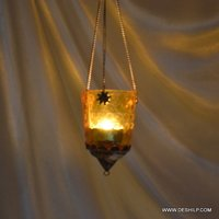Glass T Light Candle Hanging Home Decor