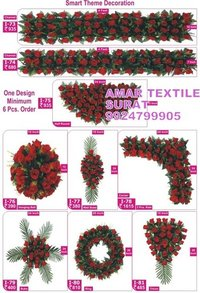 Artificial flower garlands for weddings