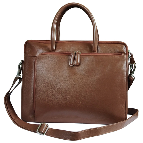 Men Leather Laptop Organizer Bag