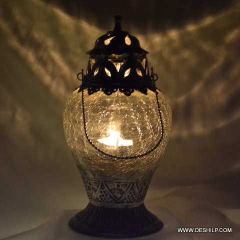 Hanging Glass T Light Candle