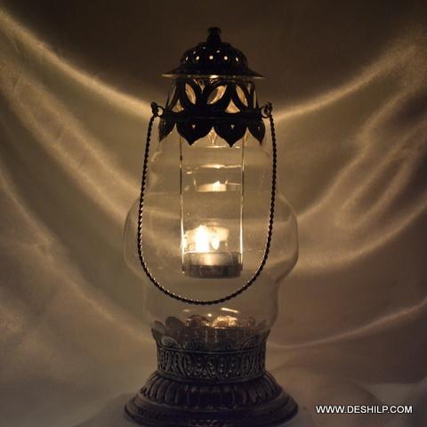 Clear Glass Antique Lantern