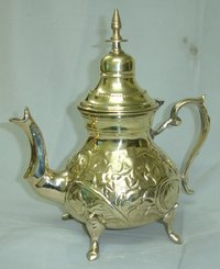 Brass Tea pot Embossed