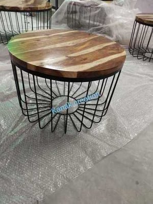 Industrial Handcrafted Round Coffee Table