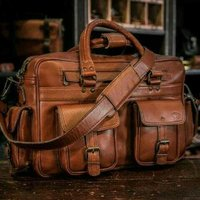 Leather Messenger hand bag