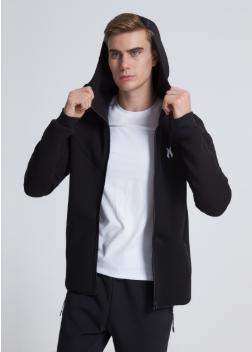 Dongguan Factory Mens Plain Hoodies Custom Tech Fleece Zipper Up Hoodie