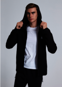 Dongguan Factory Mens Plain Hoodies Custom Tech Fleece Zipper Up Hoodie