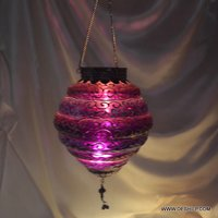 Glass T-Light Candle Hanging