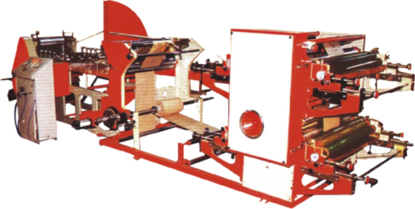 Paper cover making machine with 2 colour printing