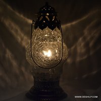 Antique Glass Creak Design Lantern