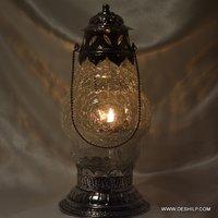 Antique Glass Creak Design Lantern