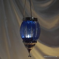 T Light Candle Hanging Glass Made