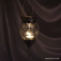 Decorative Glass T Light Candle Hanging