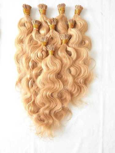 Blonde I tip Wavy  hair extensions,Unprocessed hair