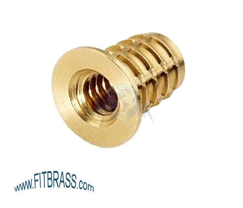Brass Headed Screw in Insert