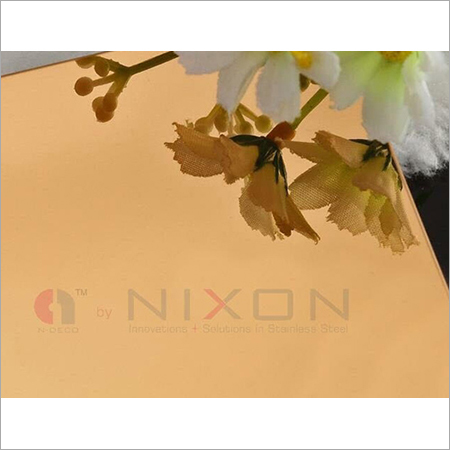 PVD Coated Mirror Coloured Stainless Sheets