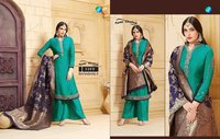 Georgette suits with banarasi dupatta