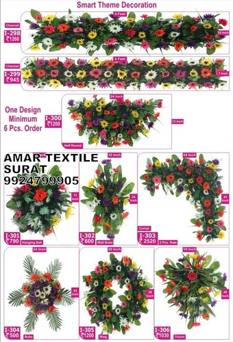Handmade flower decoration gate stage