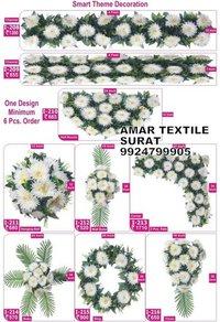 Silk flower garland for weddings