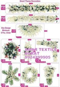 Artificial flower decoration mandap