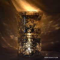 Silver Glass Decor Candle Holder