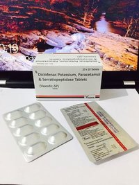 Diclofenac Pot. 50 mg + PCM 325 mg + Serratiopeptidase 15 mg