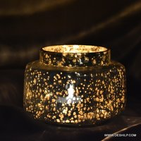 Jar Shape Glass Silver Candle