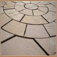 Natural Sandstone Paving Tiles & Circle
