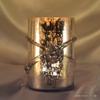 Decorative Glass Silver Candle Holder