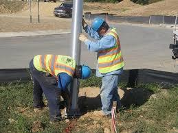 Street Light Pole Installation