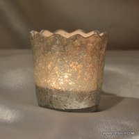 Silver Finish Glass Made Votive