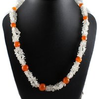 Uncut Chip Beaded Necklace