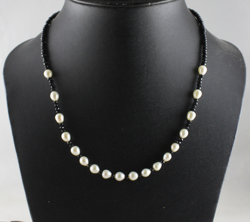 Pearl and Spinel Necklace