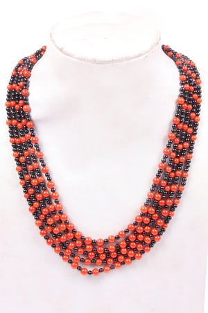 Coral & Spinel Necklace