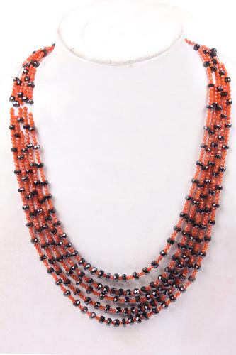 Carnelian & Spinel Necklace