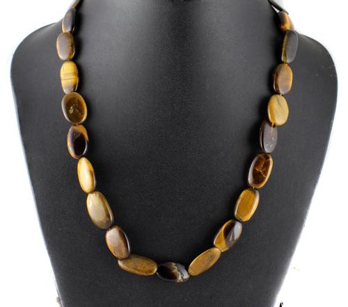 Tiger Eye Oval Beads Necklace