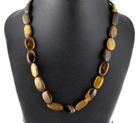 Tiger Eye Oval Beads Necklace