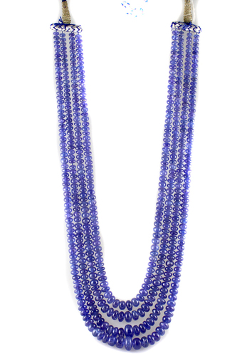 Tanzanite Smoth Beads Necklace