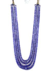 Tanzanite Smoth Beads Necklace