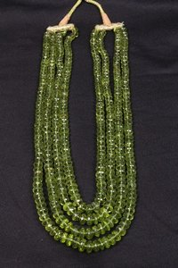Peridot Roundel Beads Necklace