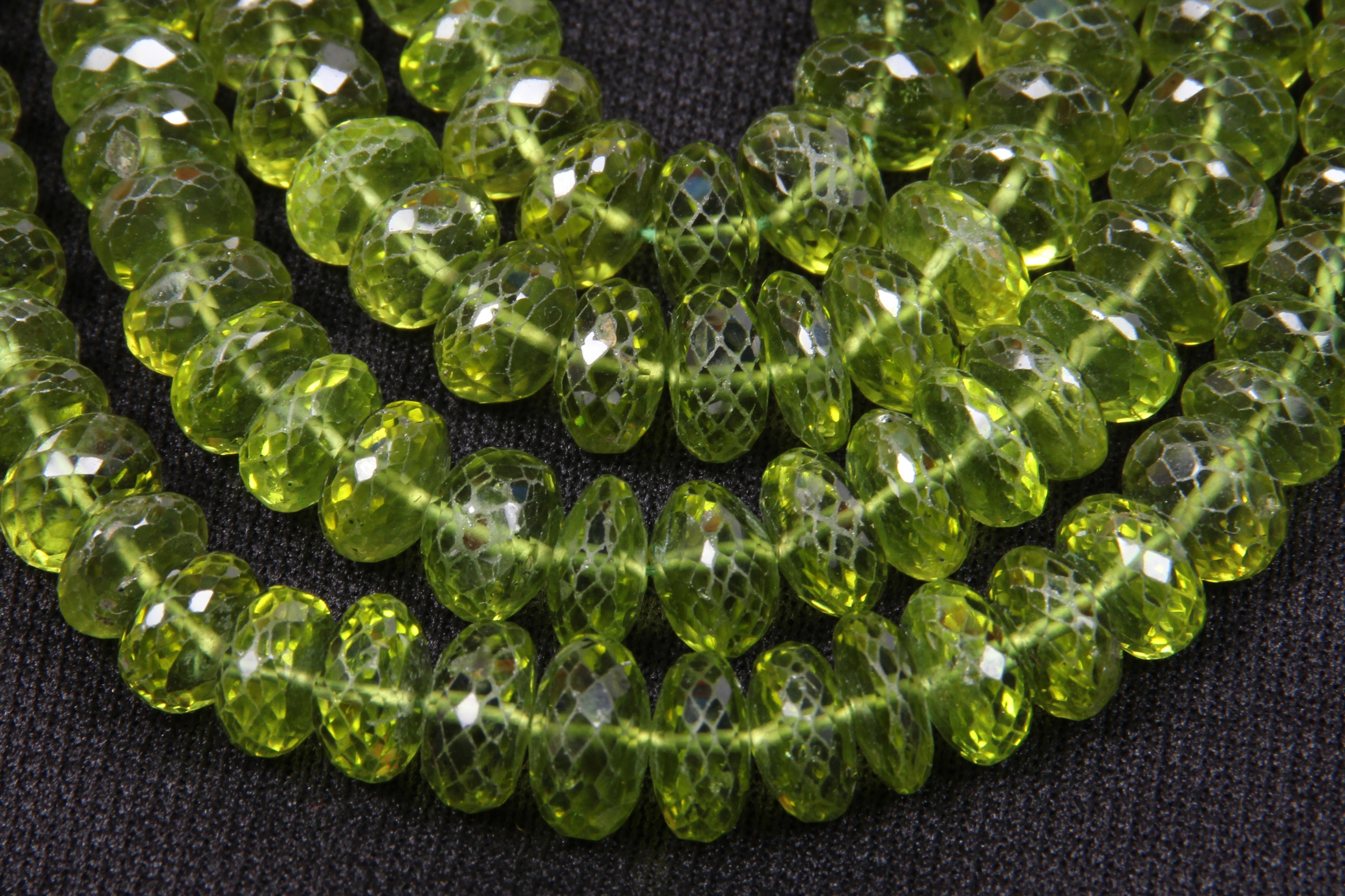 Peridot Roundel Beads Necklace