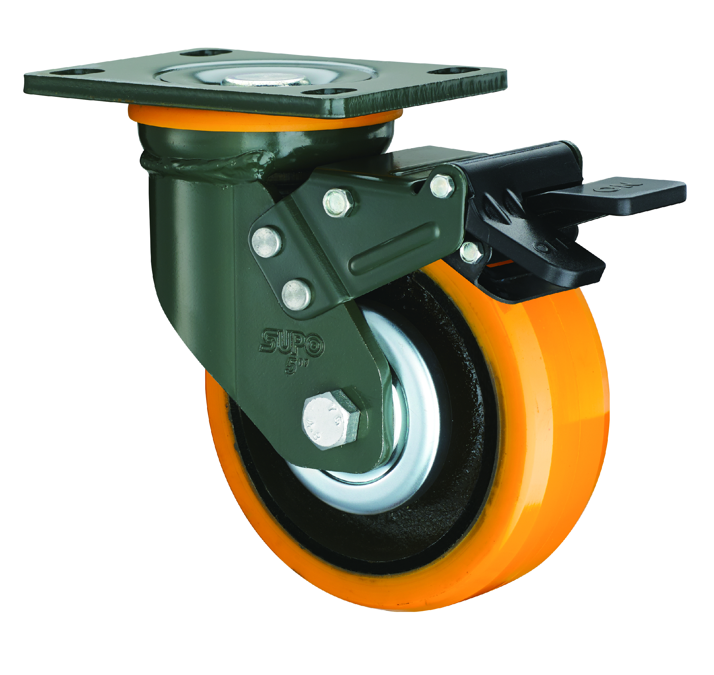 Solid rubber tyer